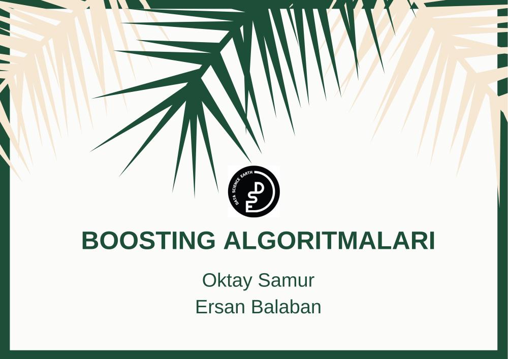 XGBoost, GradientBoost, AdaBoost, CatBoost Algoritmalarının İncelenmesi